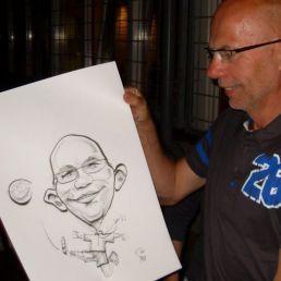 Erik Elsas sneltekenaar karikaturist