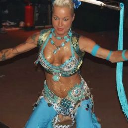 Miss Nagine with fakir and belly dance show
