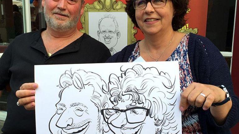 De Karikaturist - sneltekenaar op lokatie