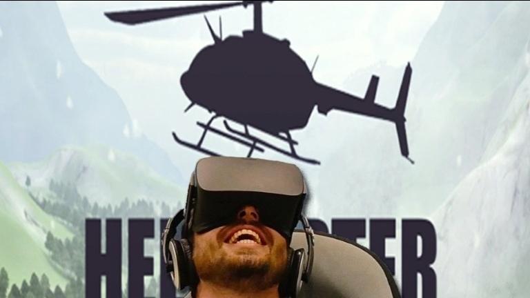 Helikoptervlucht in VR