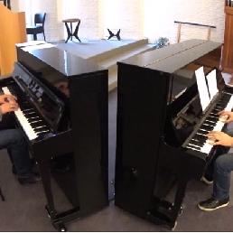Pianist Amersfoort  (NL) Pianoduo Hans en Matijs