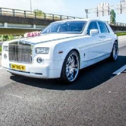 Party vervoer 's Gravenzande  (NL) Rolls Royce Trouwauto / televisie werk
