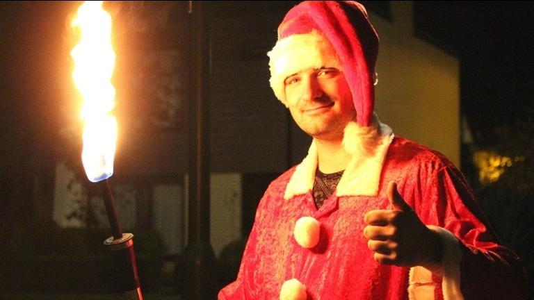 Vlammende Kerstman
