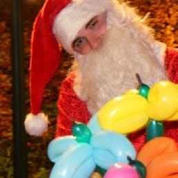 Ballon artiest Maarheeze  (NL) Ballonnen Kerstman
