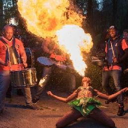Stuntshow Rotterdam  (NL) Vuurshow met dansers en band