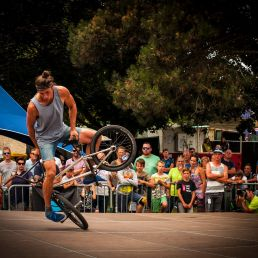 World champion BMX shows or demonstration