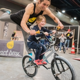 Sports/games Utrecht  (NL) BMX shows + mobile BMX course dayprog.