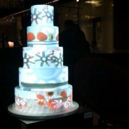 VJ Tilburg  (NL) Bruiloft taart - Videomapping
