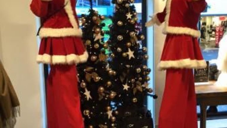 Kerstfiguren Steltlopers