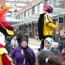 Animatie Heinenoord  (NL) Zwarte Pieten Steltlopers