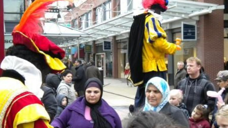Zwarte Pieten Steltlopers