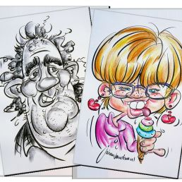 Kunstenaar Leiderdorp  (NL) Sneltekenaar karikaturist Johan van Dam
