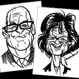 Sneltekenaar karikaturist Johan van Dam