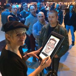 Artist Arnhem  (NL) digitale sneltekenaar Marion