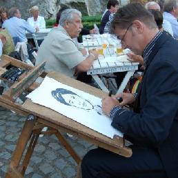 Artist Scheemda  (NL) Speed sketch artist Reinoud Bekkema