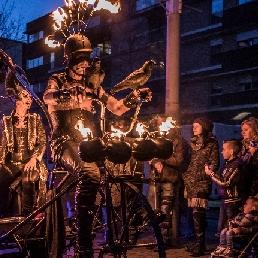Stuntshow Amsterdam  (NL) De Vlammende Riksha