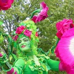 Green Fairy and the Flower Geisha's