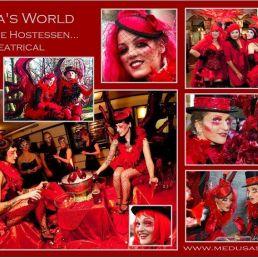Red Burlesque Fairies