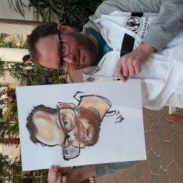 Live karikaturist