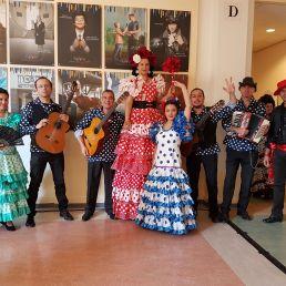 Flamenco Spanish stiltwalkers