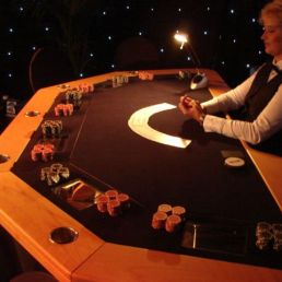 Poker tournament with TV Final poker table