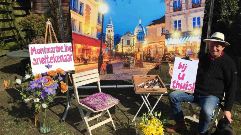 Sneltekenaar Montmartre Live