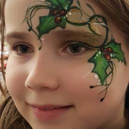 Schminker Oegstgeest  (NL) Kerst schminksters
