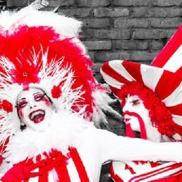Animatie Amsterdam  (NL) Monseigneur et Madame Rouge-Blanc
