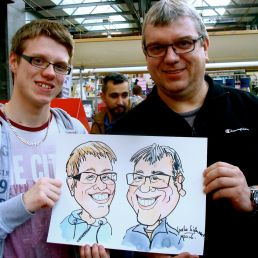 Artist Castricum  (NL) Speed artist - caricaturist Ineke Ligtermoet