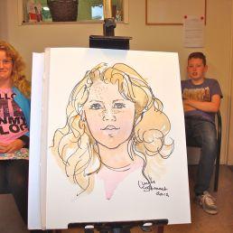 Artist Castricum  (NL) Realistic portraits in schools