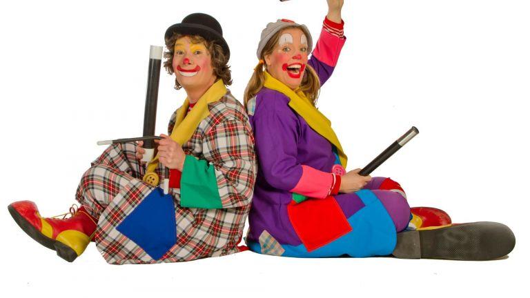 Clown Veldhoven  (NL) Children's show Clown Boebie & Babsie