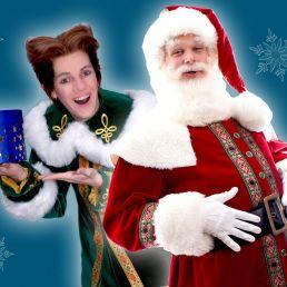 Kerstman met Kerstelf