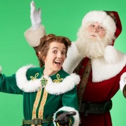 Karakter/Verkleed Tilburg  (NL) Kerstman met Kerstelf