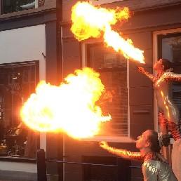 Stuntshow Leeuwarden  (NL) Vuurspuwers