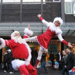 Kerst acrobatiek