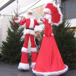 Animatie Amsterdam  (NL) Kerst stelten