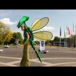 Vlinder op stelten!