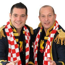 Zanggroep Tilburg  (NL) Duo Knotsgek Carnaval/Feest optreden