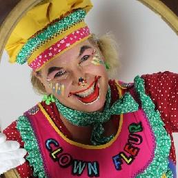 Clown Ravenstein  (NL) Clown Fleur, Fleurt ieder kinderfeest op!