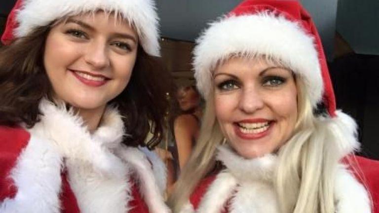 2 Steltlopers - Kerstfiguren