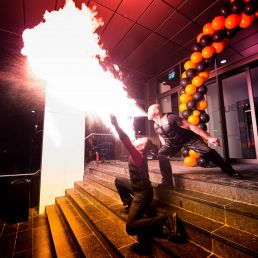 Stunt show Amstelveen  (NL) Fire shows of dacosta entertainment