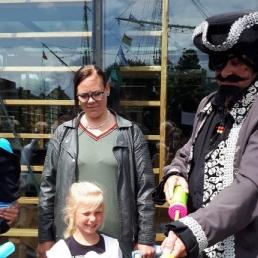 Ballon artiest Den Helder  (NL) Piraat Rob