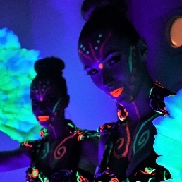 Dancer Oosterhout  (Noord Brabant)(NL) Glow in the Dark, UV blacklight dance show