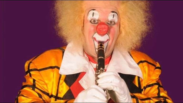 Muzikale Clown Teddy Klarinetti
