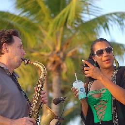 Saxophonist Overloon  (NL) Saxophonist Jan van Oort also Sax and DJ
