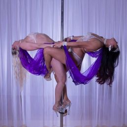 ARTISTIC DUO POLE DANCE ACT !!