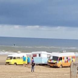 Foodtrucks on the beach