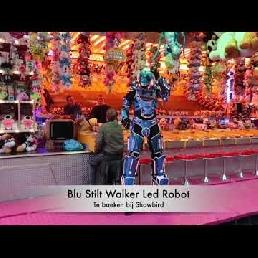 Animatie Spijkenisse  (NL) Blu Stilt Walker Led Robot