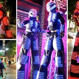 Event show Spijkenisse  (NL) Robot Led Show