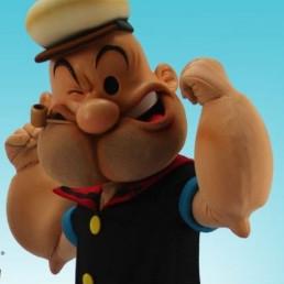 Karakter/Verkleed Den Haag  (NL) Op de foto met Popeye